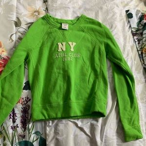 Abercrombie and Fitch New York Lime Green Crewneck